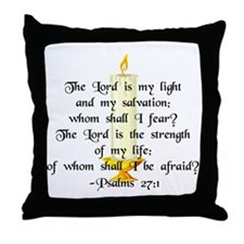 """The Lord is my light..."" Throw Pillow"