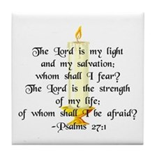 """""""The Lord is my light..."""" Tile Coaster"""