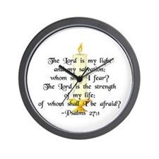 """""""The Lord is my light..."""" Wall Clock"""
