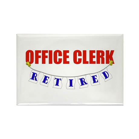 Retired Office Clerk Rectangle Magnet