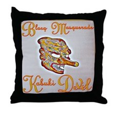 Kabuki Devil Throw Pillow