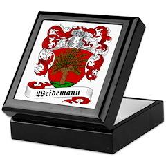 Weidemann Family Crest Keepsake Box