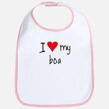 I LOVE MY Boa Bib