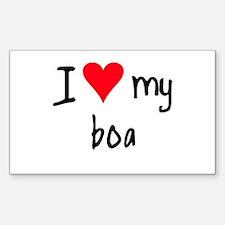 I LOVE MY Boa Decal