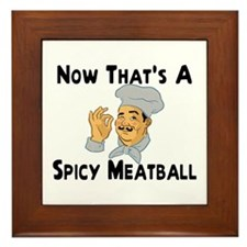 Spicy Meatball Framed Tile
