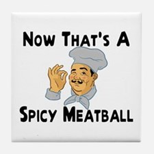 Spicy Meatball Tile Coaster