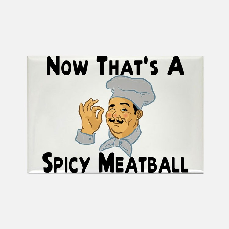 Spicy Meatball Rectangle Magnet