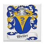 Weiler Family Crest Tile Coaster