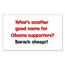 """Barack sheep!"" Rectangle Decal"