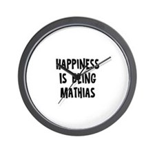 Happiness is being Mathias Wall Clock