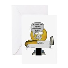 Smiley Massage Fart Greeting Card