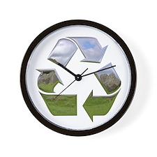 Recycle Symbol Wall Clock