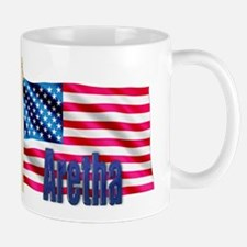 Aretha Personalized USA Flag Mug