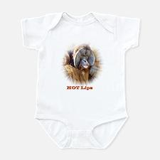 Hot Lips: Orangutan. Infant Bodysuit