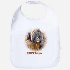 Hot Lips: Orangutan. Bib