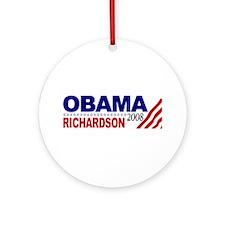 Obama Richardson 2008 Ornament (Round)