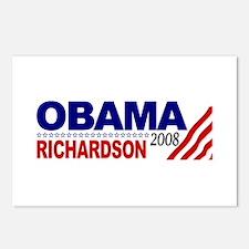Obama Richardson 2008 Postcards (Package of 8)