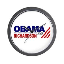 Obama Richardson 2008 Wall Clock