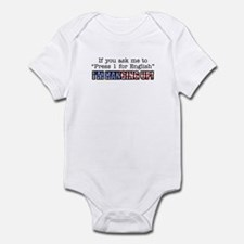 Hanging Up Infant Bodysuit