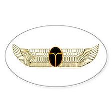 Egyptian Scarab Hieroglyph 2 Oval Decal