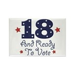 18 And Ready To Vote Rectangle Magnet
