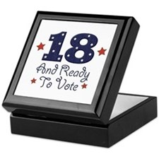 18 And Ready To Vote Keepsake Box