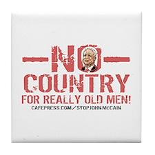 Anti-McCain Old Men Tile Coaster