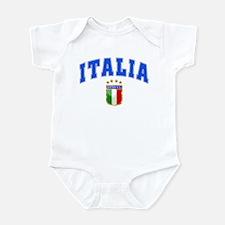 Italia 4 Star European Soccer 2012 Infant Bodysuit