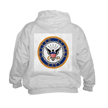 Navy Emblem - back Kids Sweatshirt
