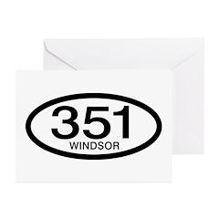 Vintage Ford 351 c.i.d. Windsor Greeting Cards (Pk