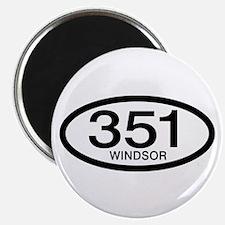 """Vintage Ford 351 c.i.d. Windsor 2.25"""" Magnet (100"""