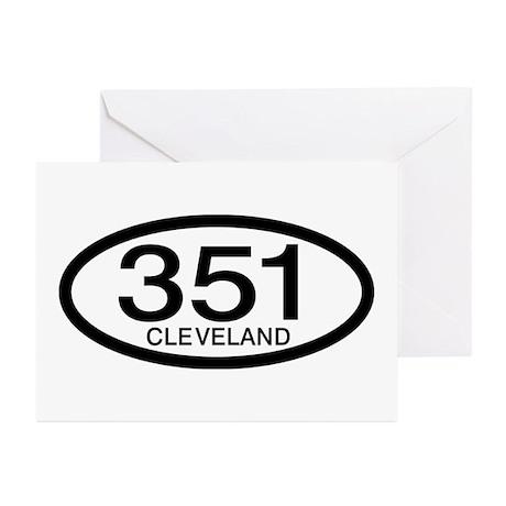 Vintage Ford 351 c.i.d. Cleveland Greeting Cards (