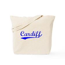 Vintage Cardiff (Blue) Tote Bag