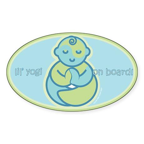 Lil' Yogi Oval Sticker