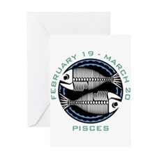 PISCES (16) Greeting Card