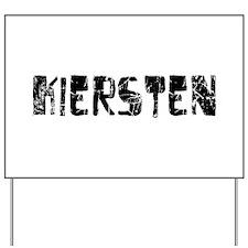 Kiersten Faded (Black) Yard Sign