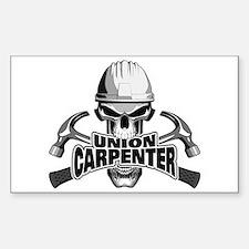 Union Carpenter Skull Decal