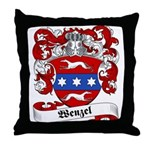 Wenzel Family Crest Throw Pillow