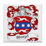 Wenzel Family Crest Tile Coaster