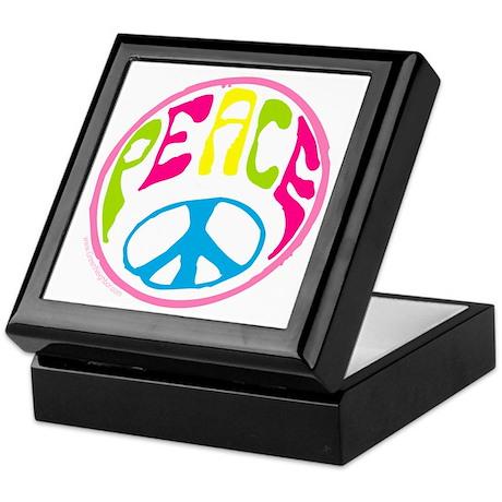 Hippie Peace Sign Keepsake Box