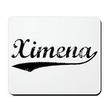 Vintage Ximena (Black) Mousepad