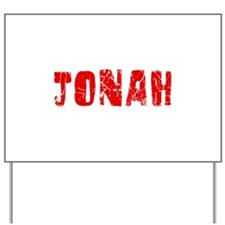 Jonah Faded (Red) Yard Sign