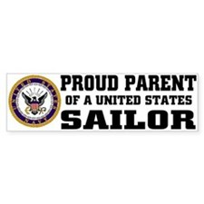 Proud Parent of a U.S. Sailor Bumper Car Sticker