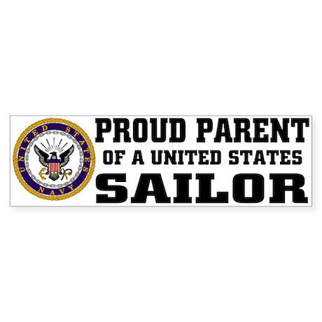 Proud Parent of a U.S. Sailor Bumper Sticker