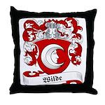 Wilde Family Crest Throw Pillow