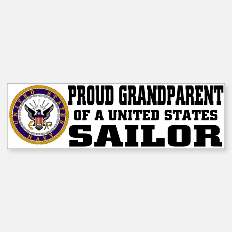 Proud Grandparent of a U.S. Sailor Bumper Bumper Sticker