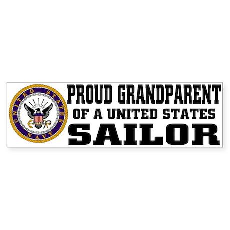 Proud Grandparent of a U.S. Sailor Sticker (Bumper