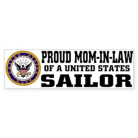 Proud Mom-in-Law of a U.S. Sailor Bumper Sticker