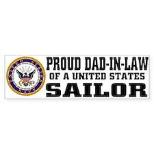 Proud Dad-in-Law of a U.S. Sailor Bumper Car Sticker