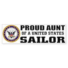 Proud Aunt of a U.S. Sailor Bumper Bumper Sticker